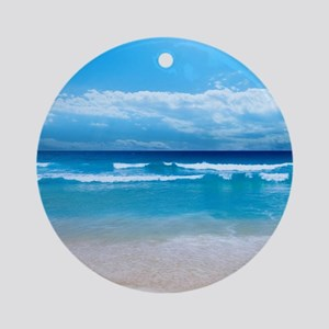 Tropical Wave Ornament (Round)