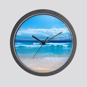 Tropical Wave Wall Clock