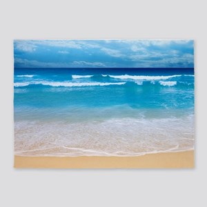 Tropical Wave 5'x7'Area Rug