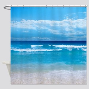 Tropical Wave Shower Curtain