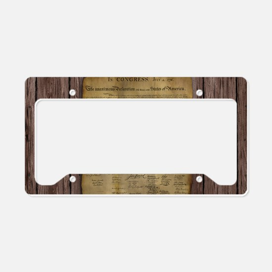 The Declaration of Independence License Plate Hold