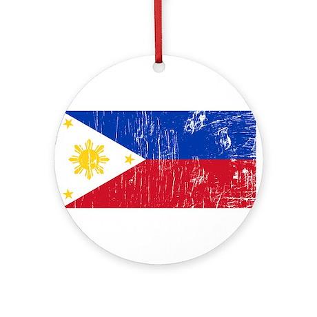 Vintage Philippines Ornament (Round)