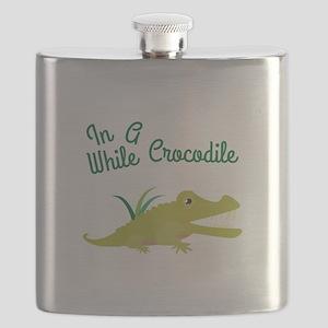 In Awhile Crocodile Flask