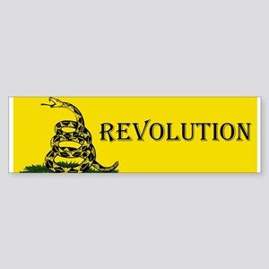 revoltuion gadsden Bumper Sticker