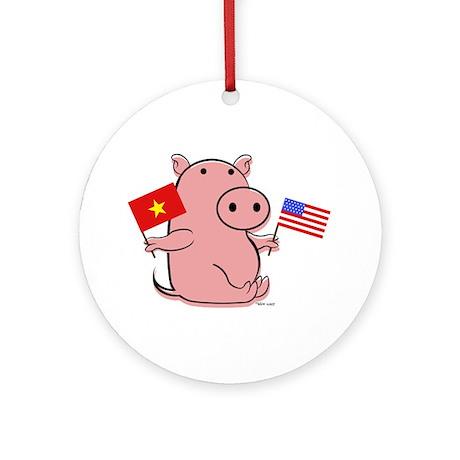 VIETNAM AND USA Ornament (Round)