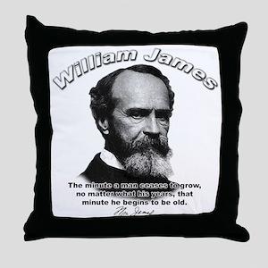 William James 11 Throw Pillow