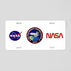 DOD Shuttle Support Ops Aluminum License Plate