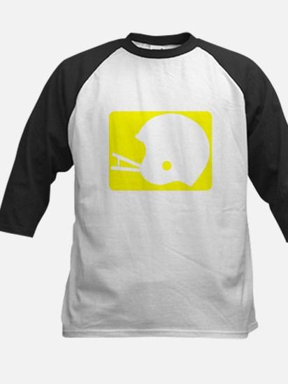 football helmet yellow Baseball Jersey