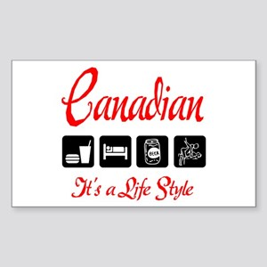 Canadian It's A Life Style Rectangle Sticker