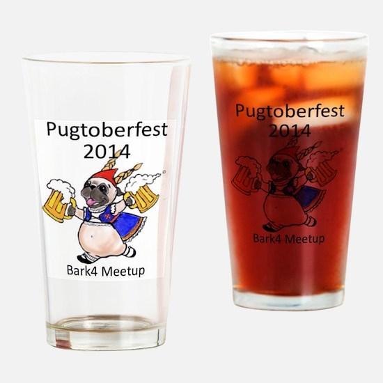 pugtoberfest2014 Drinking Glass