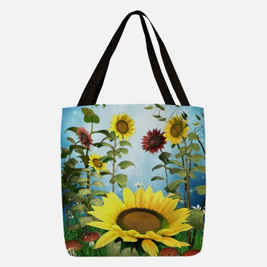 Sunflowers Polyester Tote Bag
