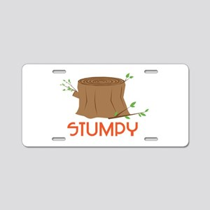 Stumpy Aluminum License Plate