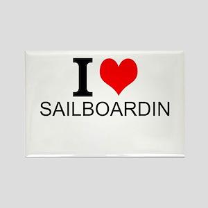 I Love Sailboarding Magnets