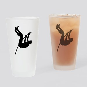 Pole Vaulter Silhouette Drinking Glass