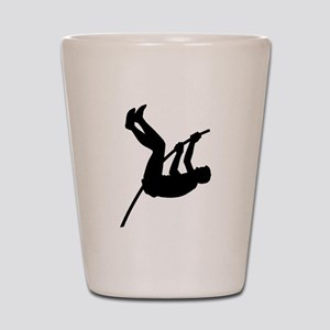 Pole Vaulter Silhouette Shot Glass