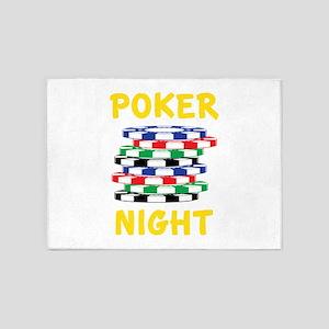 Poker Night 5'x7'Area Rug