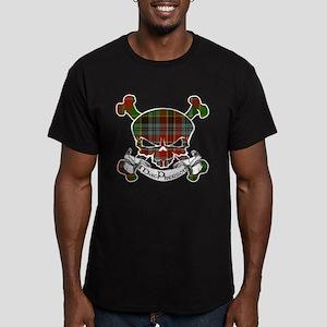 MacPherson Tartan Skul Men's Fitted T-Shirt (dark)