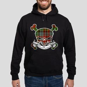 MacPherson Tartan Skull Hoodie (dark)