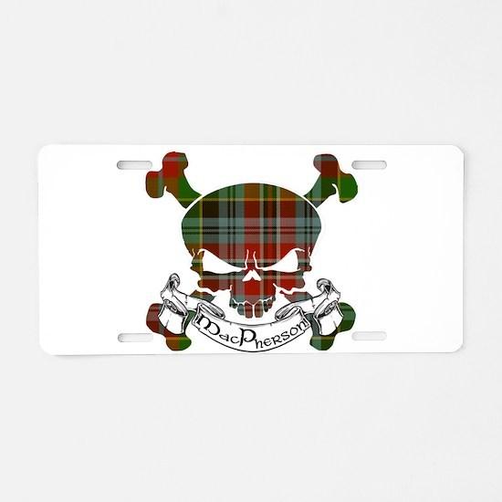 MacPherson Tartan Skull Aluminum License Plate