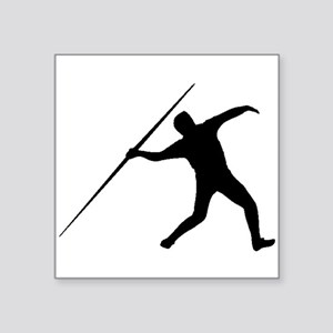 Javelin Throw Silhouette Sticker