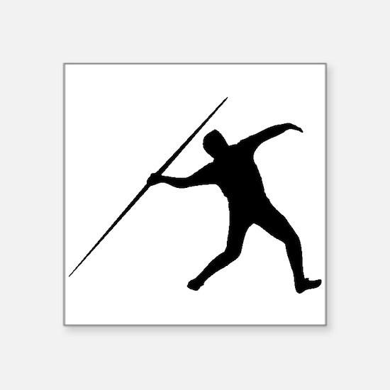 Javelin Throw Silhouette Sticker