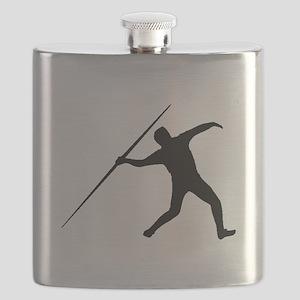 Javelin Throw Silhouette Flask