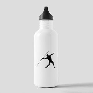 Javelin Throw Silhouette Water Bottle