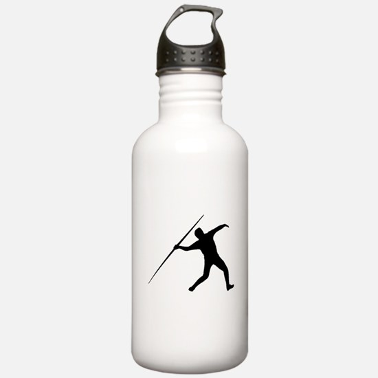 Javelin Throw Silhouette Water Bottle