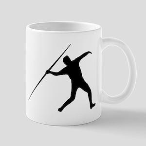 Javelin Throw Silhouette Mugs