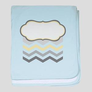 Chevron Caption Blank baby blanket