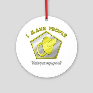 I make People Ornament (Round)