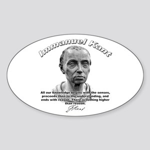 Immanuel Kant 01 Oval Sticker