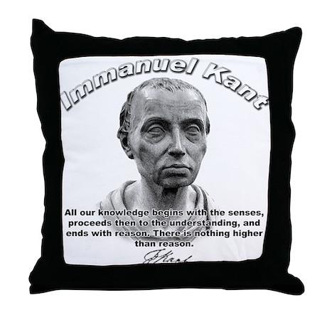 Immanuel Kant 01 Throw Pillow