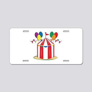 Big Top Aluminum License Plate