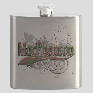 MacPherson Tartan Grunge Flask
