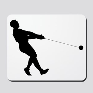 Hammer Throw Silhouette Mousepad