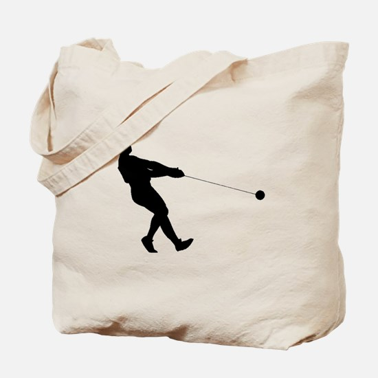 Hammer Throw Silhouette Tote Bag