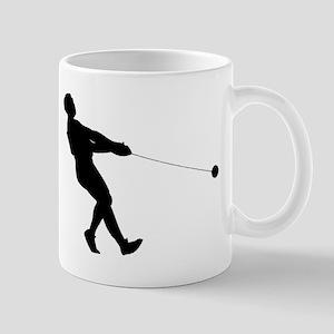 Hammer Throw Silhouette Mugs