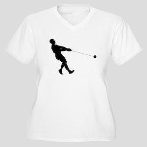 Hammer Throw Silhouette Plus Size T-Shirt