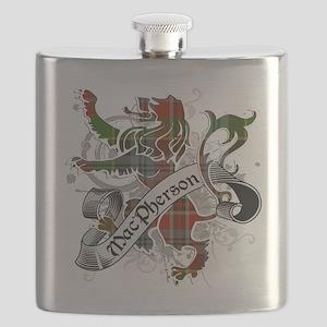 MacPherson Tartan Lion Flask