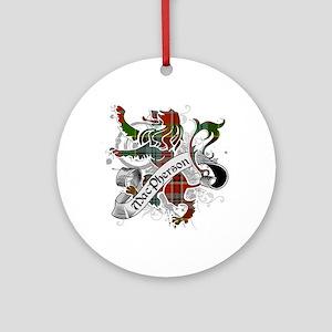 MacPherson Tartan Lion Ornament (Round)