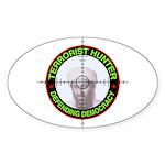Terrorist Hunter Oval Sticker