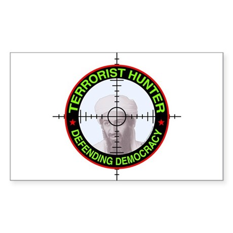 Terrorist Hunter Rectangle Sticker