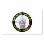 Terrorist Hunter Rectangle Sticker