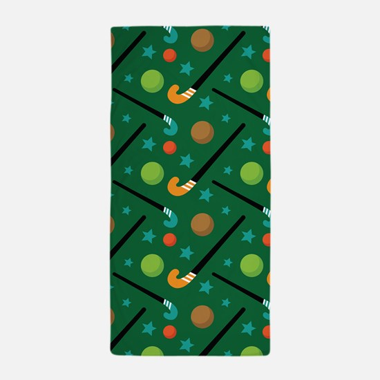 Field Hockey Sports Beach Towel