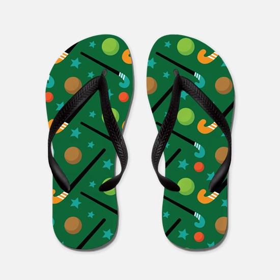 Field Hockey Sports Flip Flops