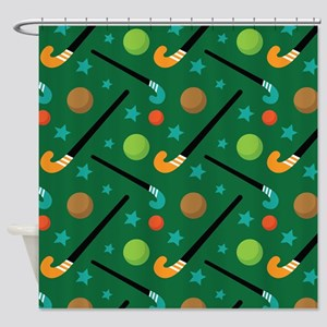 Field Hockey Sports Shower Curtain