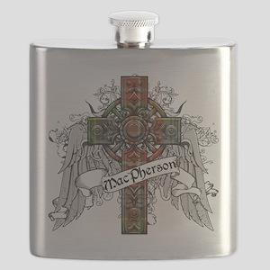 MacPherson Tartan Cross Flask