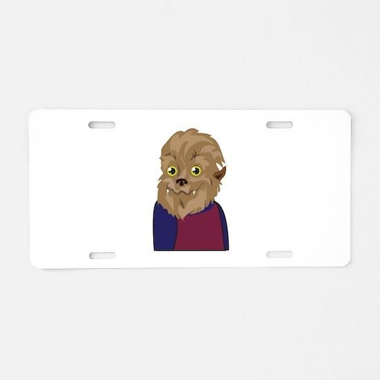 Werewolf Man Aluminum License Plate