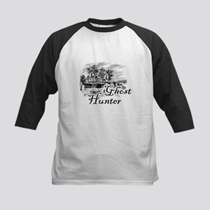 Ghost Hunter Cemetery Kids Baseball Jersey